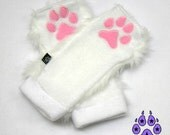 Pawstar Classic PAW WARMERS Natural Realistic Animal Colors White Black Brown Tan Grey Gray Pastel Pink embroidered warm goth snowboard 3102