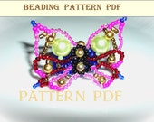 Ring butterfly .PATTERN PDF.Beading.Tutorial.Pattern-in PDF form -Tutorial , consecutive instructions.