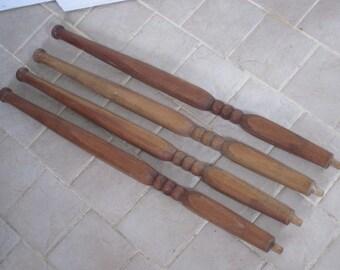 4 Vintage Wood Furniture or Staircase Spindles