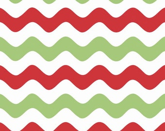 Wave Christmas by Riley Blake Designs 1 Yard Cut - Wave Fabric