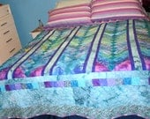 Hawaiian stripes!  Water colored quilt