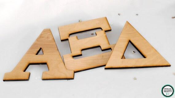 BeArtXi Wooden 7 Greek Alpha Xi Delta Letters By Artxidesigns