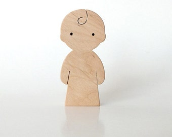 Wooden toy - Baby child - waldorf natural wood toy