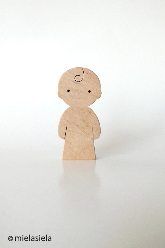 Wooden toy Baby child waldorf natural wood toy by mielasiela