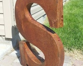 Marquee Letters 24 inch Rustic 3d Metal Letters Rusty