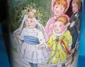 Massilly  Tin.......Children's Victorian Wedding....Vintage French Biscuit Tin
