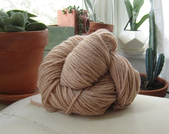 Naturally Dyed Earthy Pink Wool Yarn