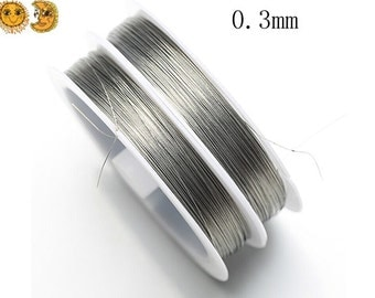 1 roll 100 meters tiger tail wire silver grey beading wire stringing beads findings cord wire wrap accessory steel wire 0.3mm thick
