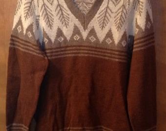 Brown wool sweater.