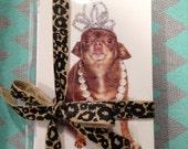Adorable Princess Chihuahua Greeting Card Set- Includes 10 cards & 10 envelopes