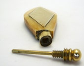 vintage perfume pendant - hand carved bone pendant - indian vintage pendant - 63mm