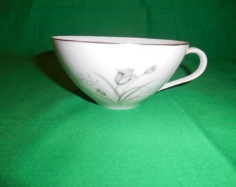 Two (2), Porcelain Flat Tea Cups, from Creative China, in the Royal Elegance Pattern.