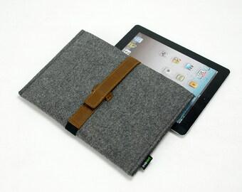 Felt iPad Case Cover iPad Air Sleeve Holder iPad Bag Felt & Leather iPad 1 2 3 4 Pouch iPad Air Case E1797
