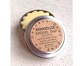 LOTION BAR - Coconut Lotion Bar - Solid Lotion Bar - Natural Lotion