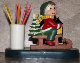Vintage Christmas Toothpick Holder