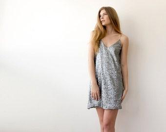 Sequin sparkling mini silver dress, Sparkling mini party dress 1020