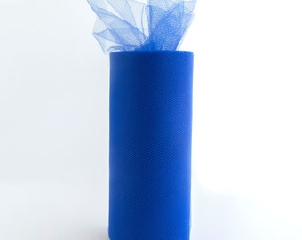 6 Inch Tulle Spool 25 Yards Royal Blue- 1