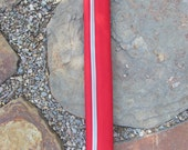 Bicycle Top Tube Pad - Red and Beige
