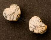 4G Pair El Corazon Spalted Tamarind Heart Shaped Organic Hand Carved Body Piercing Jewelry 4 gauge