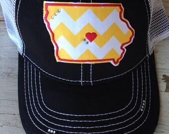 Iowa State Chevron Bling Trucker Hat