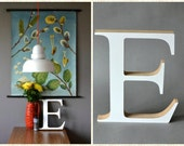 Vintage shop marquee letter E white signage home decor decoration wall hanging