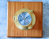 Wall clock with nautical theme