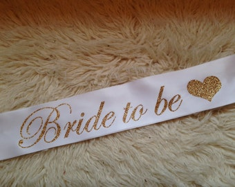 STUNNING Bride to be CUSTOM glitter sashes. Perfect gift for hens night, bridal shower or birthdays.