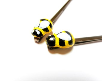 Bee Bobby Pins - set of bobby pins -Bee ring - gold bee necklace