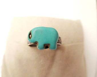 Elephant  Ring - Good luck ring -  Adjustable ring -   Vintage style-lucky jewelry