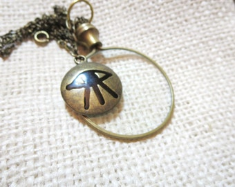 """Magnifying glass necklace -  key  Necklace -2"""" Magnifying Jewelry, Fun and Handy. Trendy and Chic."""