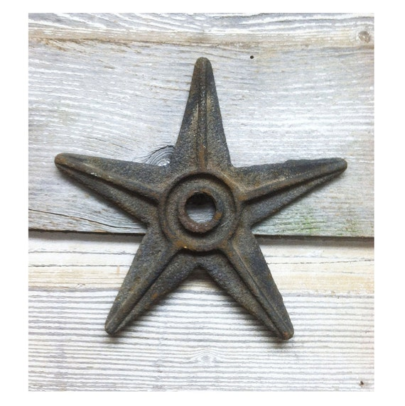 Vintage Industrial Cast Iron Stars