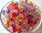 Faceted Beads, 50 pcs, 10mm, Mixed Colors, Globe Beads, Small Gumball Beads, Acrylic Bead, Bracelet Beads, Spacer Beads