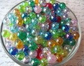Small Round Beads, 30 pcs, 10mm, Mixed Colors, AB Color, Small Gumball Beads, Acrylic Bead, Bracelet Beads, Spacer Beads