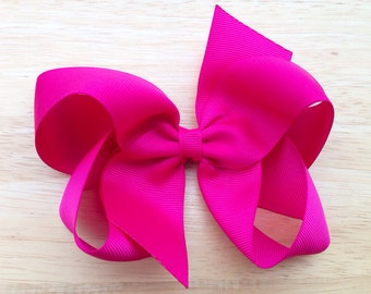 You pick color - 5 inch hair bow, 5 inch boutique bow, girls hair bows, boutique bows, girls bows, custom bows, toddler bows