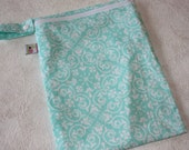 SALE Lined Wetbag Holds 2-3 Cloth Diapers Teal