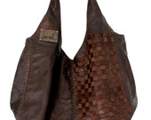 BELLA. Leather tote / leather shoulder bag / leather bag / brown leather / oversized leather bag. Available in different leather colors.