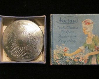 Vintage Norida Compact Powder Compact Rouge Compact Mirror Compact Art Deco Compact 1920s With Original Presentation Box Excellent Condition