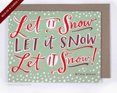 Let It Snow Within Reason Holiday Boxed Cards Funny Card by Emily McDowell