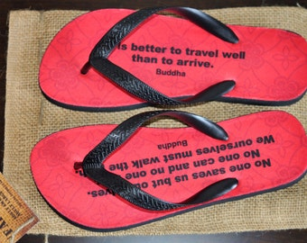 Flip Flops, Inspirational Quotes, Buddha, Travel Well, Save Ourselves, Walk The Path, Beach Sandals