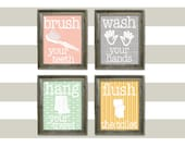 Set of 4 Bathroom PRINTABLES