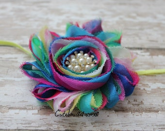 Newborn girl headband - infant girl headband - newborn headband - infant headband - small baby headband - skinny headband  - baby girl