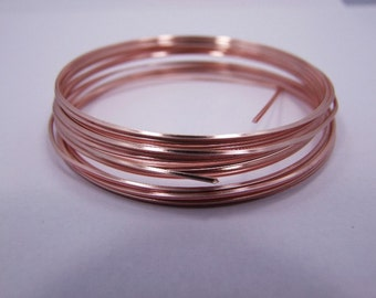 Square 18GA Beadsmith Rose Gold Color Non Tarnish  Wire 4 Yards
