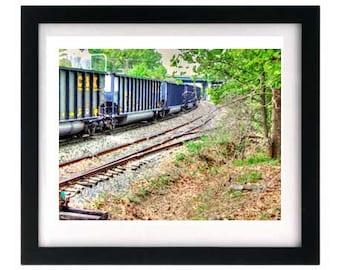 11 x 8.5 CSX Train - Art Print - Signed by Virginian Artist bRiAN moSs