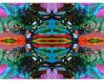 P74 - Fractal Art Abstract Postcard