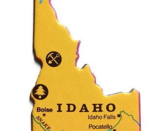 Idaho State Map Magnet