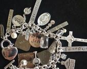 Teacher Retirement Charm Bracelet, Retirement Gift, Graduation Charm Bracelet, Custom Photo Charm Bracelet, Personalized Keepsake Jewelry