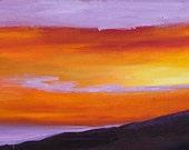 "SALE! Original modern abstract landscape acrylic painting ""An Oregon Sunset"", 18"" x 24"" on canvas.  Wall art."