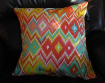 Pillow cover 18 x 18  vibrant colors