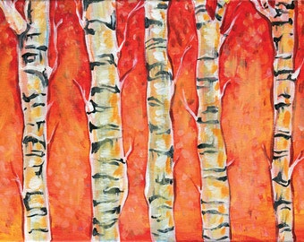 Aspen Painting on Canvas