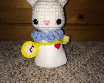 Crocheted White Rabbit